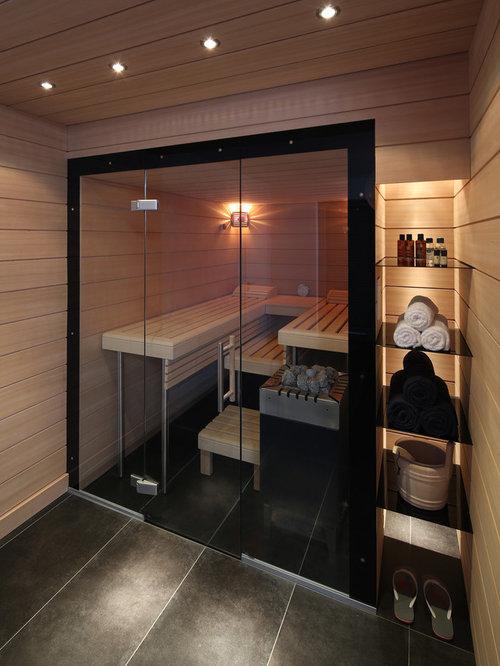 Badezimmer mit Sauna - Design-Ideen & Beispiele für die Badgestaltung