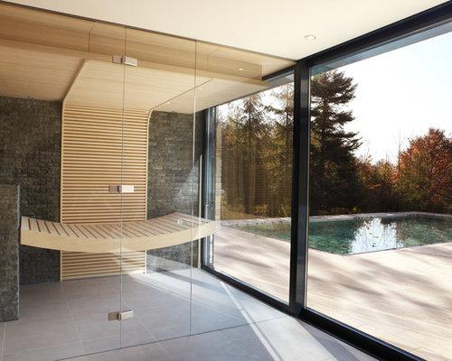 moderne badezimmer mit sauna design ideen beispiele f r die badgestaltung. Black Bedroom Furniture Sets. Home Design Ideas