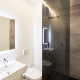 Kleine Badezimmer mit bodengleicher Dusche Ideen, Design & Bilder ...