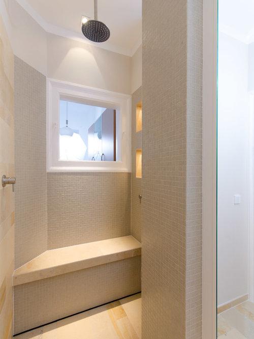 Moderne badezimmer mit duschnische design ideen - Locher in fliesen ...