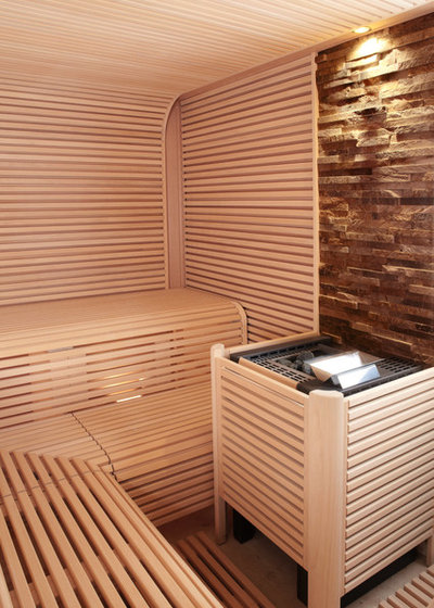 puristische sauna mit asiatischem flair in einem n rnberger wohnhaus. Black Bedroom Furniture Sets. Home Design Ideas