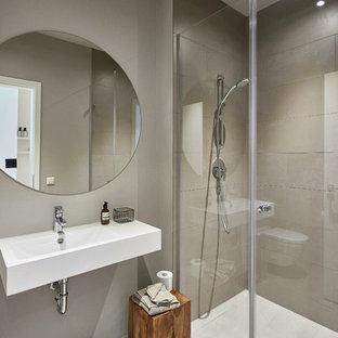 Salle de bain avec des carreaux de béton Stuttgart : Photos et idées ...