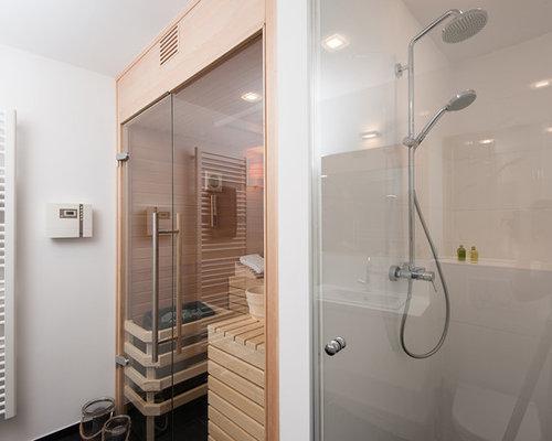 Skandinavische Badezimmer Mit Sauna: Design-ideen & Beispiele Für ... Skandinavische Badezimmer