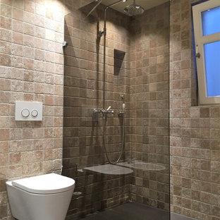 Salle de bain avec un carrelage de pierre Stuttgart : Photos ...