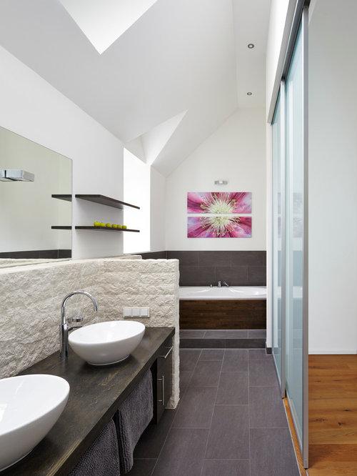 Rustikale Badezimmer - Design-Ideen & Beispiele für die Badgestaltung | {Badezimmer design holz 42}