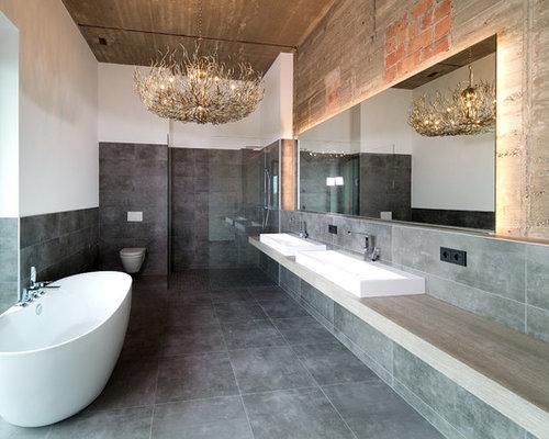 industrial badezimmer: design-ideen & beispiele für die, Hause ideen