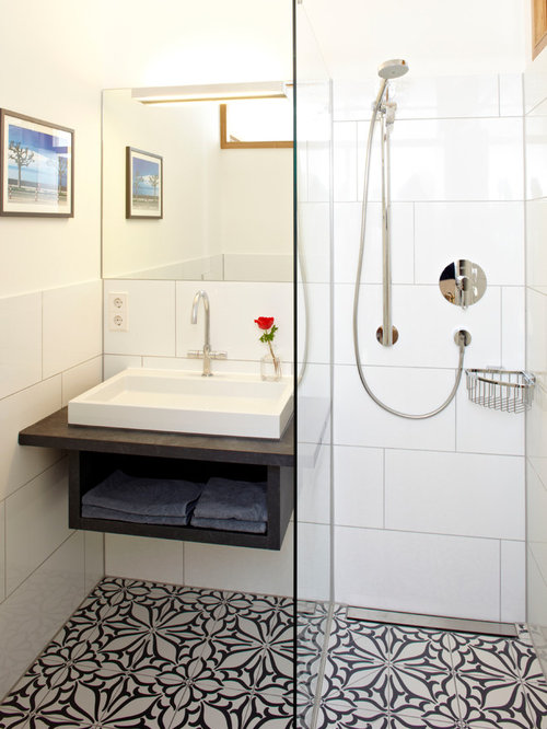 Small Bathroom Floor Tile Houzz - Bathroom floor tile designs for small bathrooms