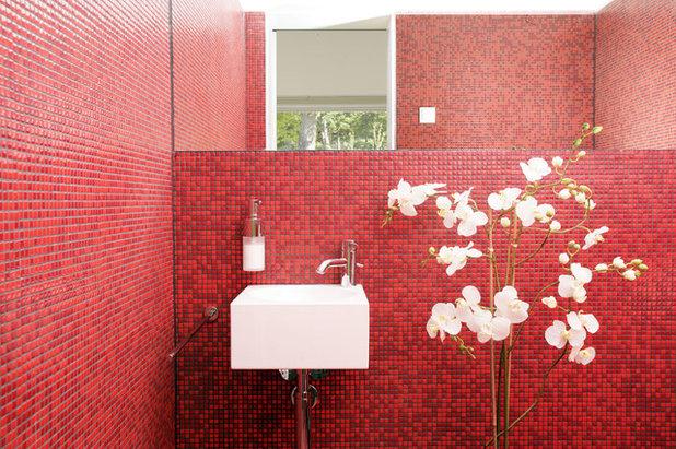 Mosaici monocromatici 12 bagni dai riflessi cangianti - Mosaici da bagno ...