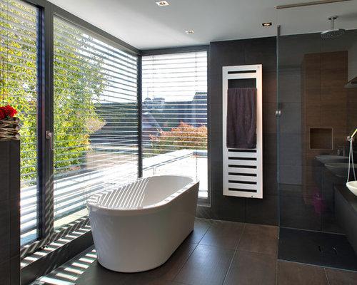 Badezimmer mit braunen Fliesen Ideen, Design & Bilder   Houzz