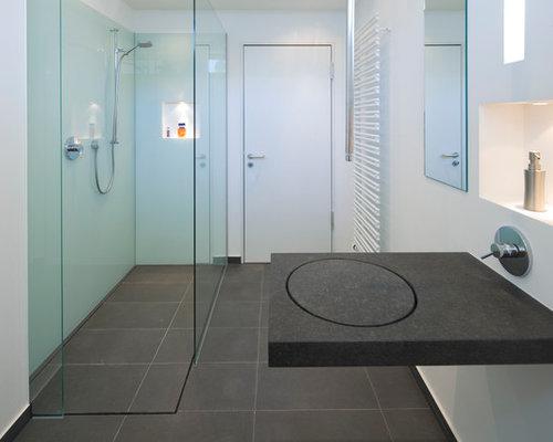 Badezimmer idee grau - Dusche grau ...