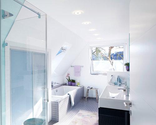 Badezimmer mit Mosaikfliesen Ideen, Design & Bilder   Houzz