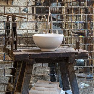 Salle de bain avec des carreaux de miroir Allemagne : Photos ...