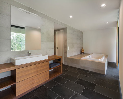 Charcoal gray tile ideas pictures remodel and decor for Charcoal bathroom designs