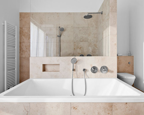 badezimmer mit travertin boden design ideen beispiele. Black Bedroom Furniture Sets. Home Design Ideas