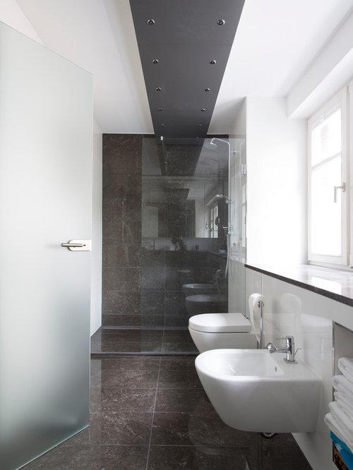 Badezimmer Mit Grauen Fliesen Design Ideen Beispiele Fur Die