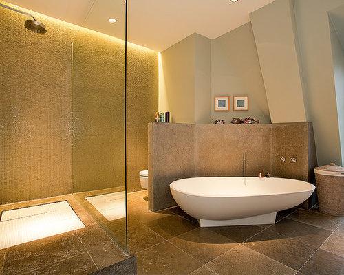 Wandfarbe Badezimmer Bei Braunen Fliesen Wohndesign