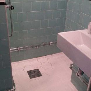 Ispirazione per una stanza da bagno scandinava