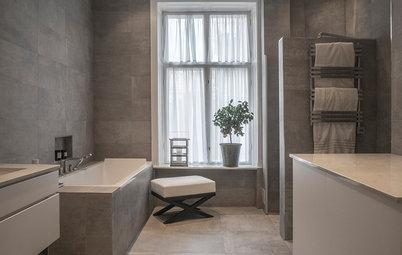 Veckans badrum: Ett slitet kök förvandlas till lyxbadrum