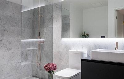 Ljusa tider: Inspiration för badrum utan fönster