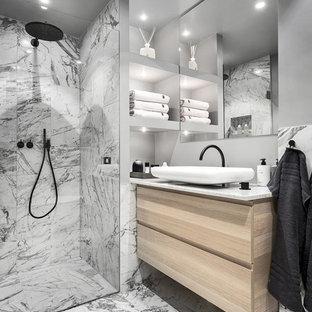 Idéer för att renovera ett stort skandinaviskt badrum med dusch 591fe0f560fd3