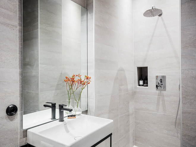 Contemporary Bathroom by Entrance Real Estate Brokerage