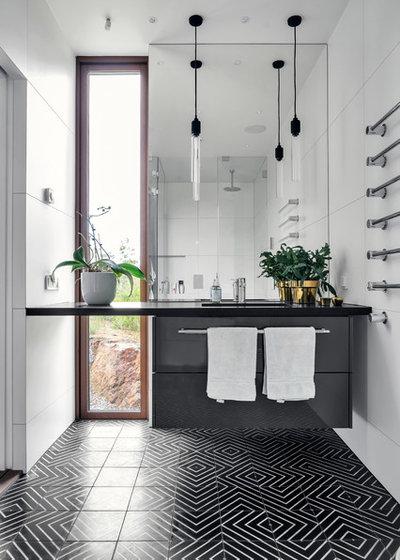 Trendy Badeværelse by DEKÅ Byggrenoveringar AB