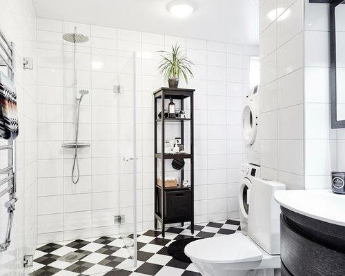 Skandinavische Badezimmer Built-in. - Ideen & Beispiele Für Die ... Skandinavische Badezimmer