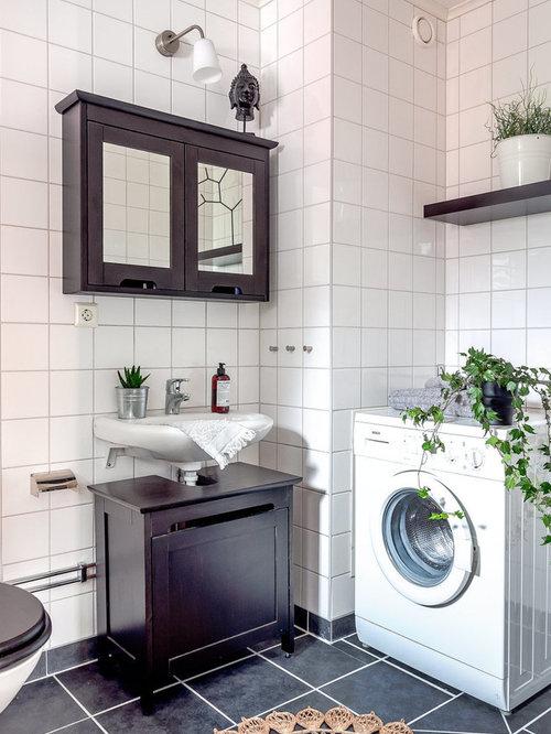 Foton och badrumsinspiration för badrum, med skåp i shakerstil och ...