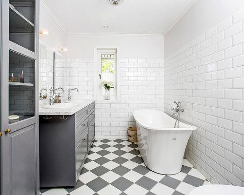Badrum badrum panel : Foton och badrumsinspiration för badrum, med luckor med infälld panel