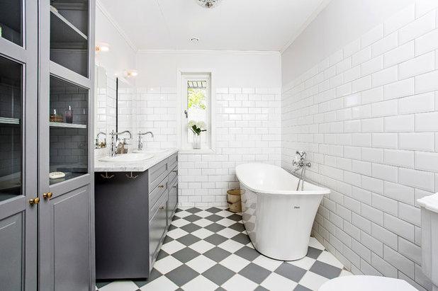 Nórdico Cuarto de baño Skandinavisk Badrum
