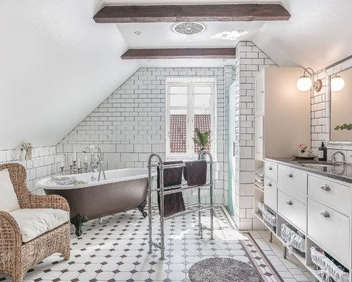 Grande bagno shabby chic style foto idee arredamento