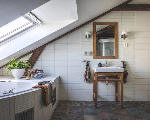 Bagno con piastrelle di cemento göteborg foto idee arredamento