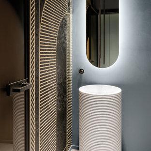 Ispirazione per un bagno di servizio minimalista