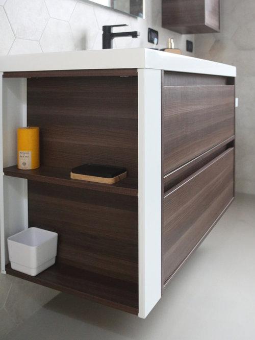 moderne g stetoilette g ste wc mit zementfliesen ideen f r g stebad und g ste wc design. Black Bedroom Furniture Sets. Home Design Ideas
