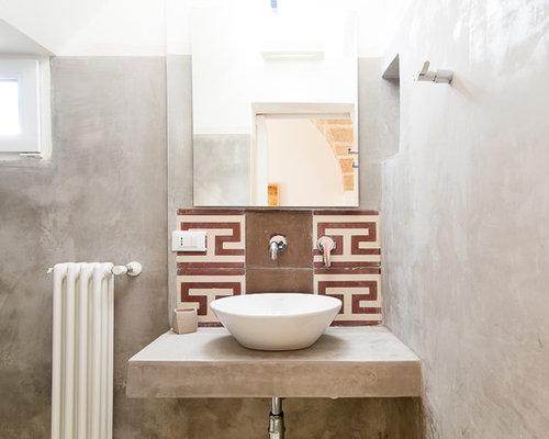 Bagno con top in cemento - Foto, Idee, Arredamento