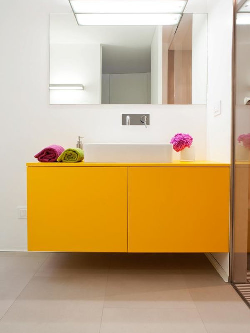 Best 20 Powder Room with Yellow Cabinets and White Walls Ideas ...