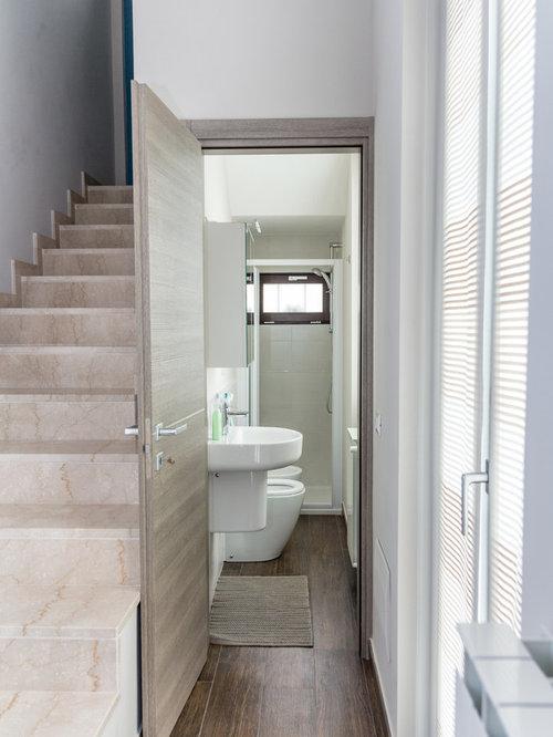 g stetoilette g ste wc mit wandwaschbecken und grauen w nden ideen f r g stebad und g ste wc. Black Bedroom Furniture Sets. Home Design Ideas