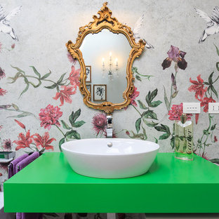 Modelo de aseo actual con paredes verdes
