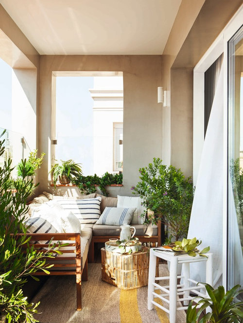 Mediterranean balcony design ideas remodels photos - Decoracion terrazas pequenas ...