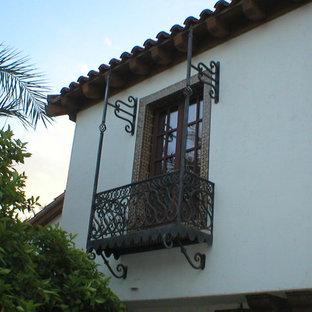 Inspiration for a mediterranean balcony remodel in Santa Barbara