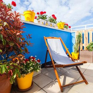 Modelo de balcones marinero, pequeño, sin cubierta, con jardín de macetas