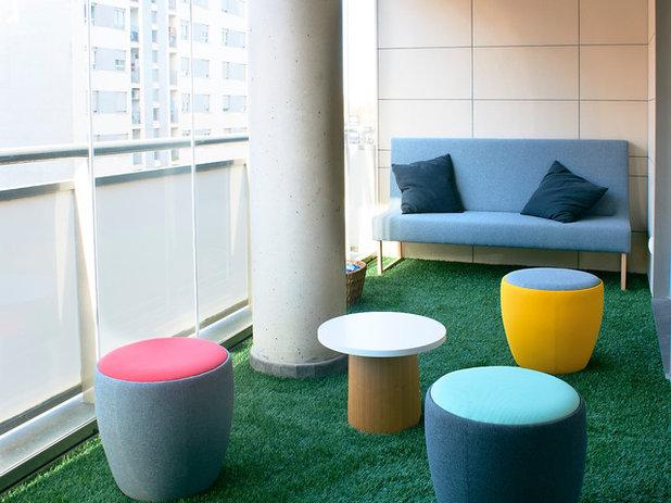Contemporain Balcon by KALEIDOSCOPE Arquitectura e Interiorismo
