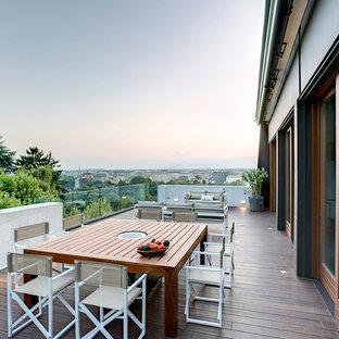 Immagine di grandi terrazze e balconi minimal con nessuna copertura