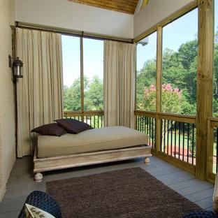 Ispirazione per privacy su balconi o terrazzi tradizionali con un tetto a sbalzo