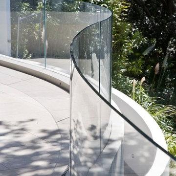 Aluminum Base Shoe Glass Railing