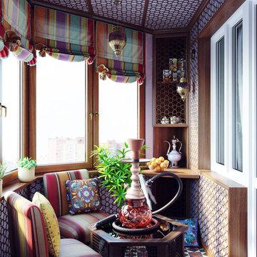 Apartment Balcony Renovation - Arabian Style | 3D Rendering