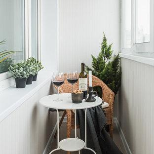 Design ideas for a scandinavian terrace and balcony in Malaga.