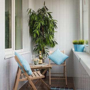 Foto di una piccola veranda nordica