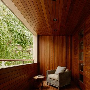 Mittelgroßer Moderner Balkon mit Sichtschutz in San Francisco