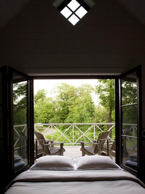 Terrasse Design Rustikale Akzente Balken Decke integrierte Sitzbank
